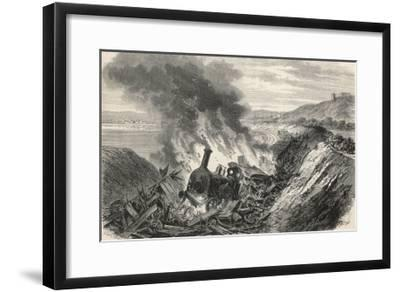 Abergele Wales, Collison of Trains on the Chester-Holyhead Line--Framed Giclee Print