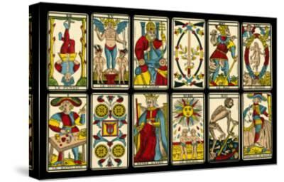 Tarot Selection from the Traditional Marseille Pack--Stretched Canvas Print