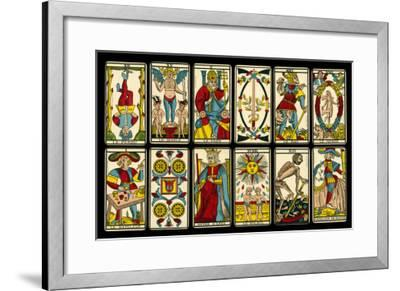 Tarot Selection from the Traditional Marseille Pack--Framed Giclee Print