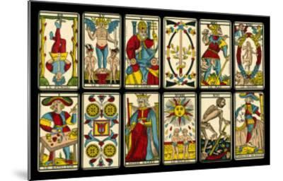 Tarot Selection from the Traditional Marseille Pack--Mounted Giclee Print