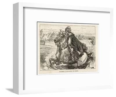 Siege of Constantinople Turkish Sultan Mehmed II Urges His Forces Towards the Byzantine City--Framed Giclee Print