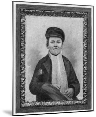 Thomas Alva Edison as a Boy--Mounted Giclee Print
