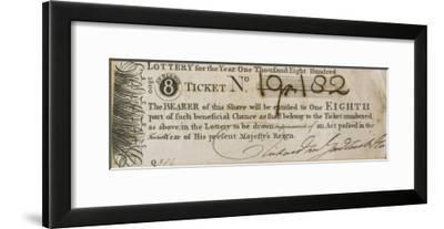 England Tickets for the State Lottery at the Guildhall London--Framed Giclee Print
