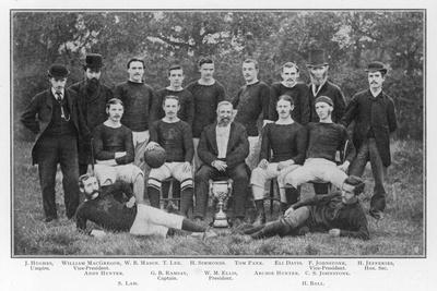 Aston Villa an Early Team Picture--Stretched Canvas Print