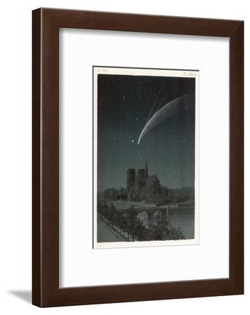 Donati's Comet Observed Over Paris--Framed Giclee Print