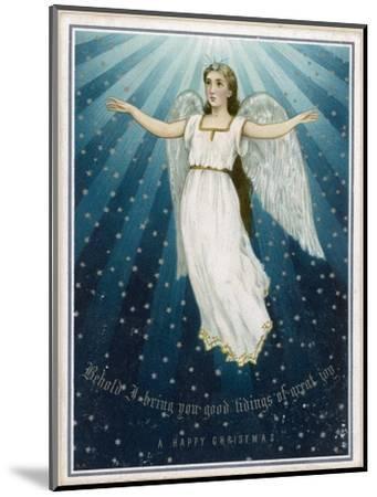 Flying Angel Among the Stars--Mounted Giclee Print