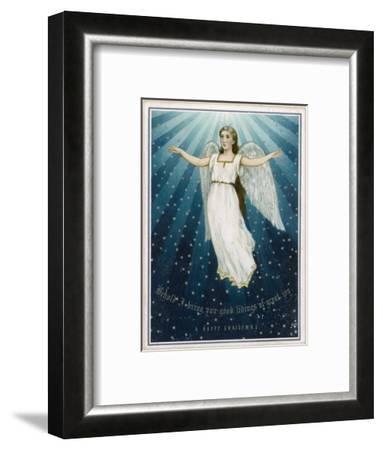 Flying Angel Among the Stars--Framed Giclee Print