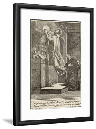 San Giuseppe di Copertino is Levitated to the Altar While He Celebrates Mass--Framed Giclee Print