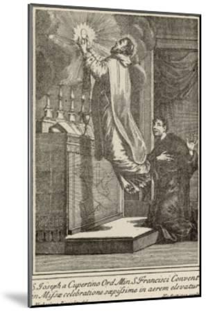 San Giuseppe di Copertino is Levitated to the Altar While He Celebrates Mass--Mounted Giclee Print