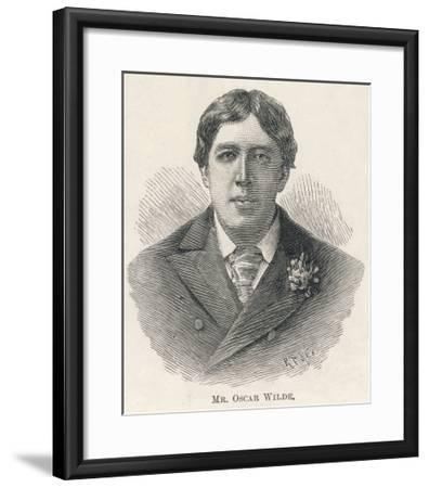 Oscar Wilde, Irish Playwright Author and Celebrity--Framed Giclee Print