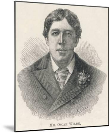 Oscar Wilde, Irish Playwright Author and Celebrity--Mounted Giclee Print