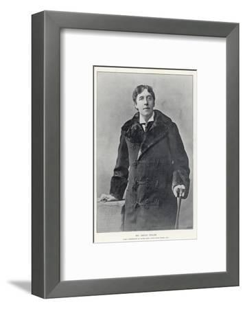 Oscar Wilde, Irish Writer and Playwright--Framed Giclee Print