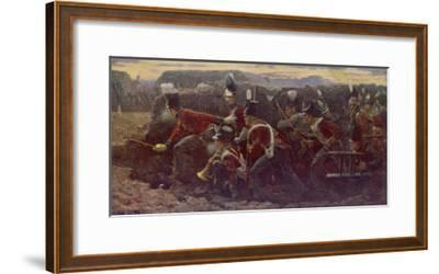 Peninsula War British Troops Under Wellington and General Picton Storm the Garrison at Badajoz--Framed Giclee Print