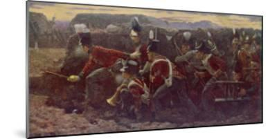 Peninsula War British Troops Under Wellington and General Picton Storm the Garrison at Badajoz--Mounted Giclee Print