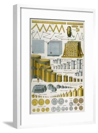 Applications of the Metric System to Dimensions Weight and Money--Framed Giclee Print