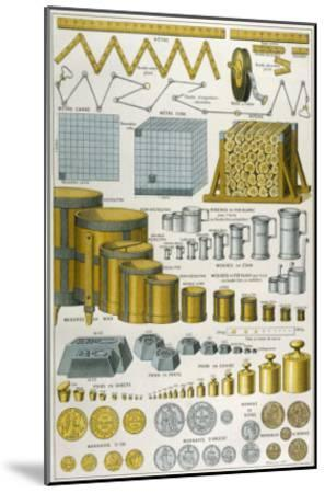 Applications of the Metric System to Dimensions Weight and Money--Mounted Giclee Print