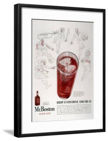 Advertisement for Old Mr. Boston Slow Gin--Framed Giclee Print