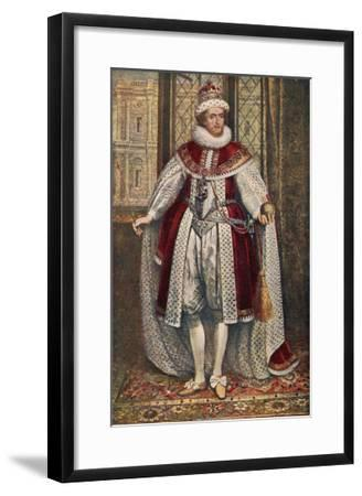 James I of England James VI of Scotland in State Robes Holding Orb and Sceptre--Framed Giclee Print