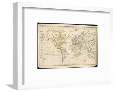 World Map--Framed Premium Giclee Print