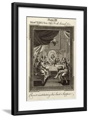 """Jesus Took Bread and Blessed It and Brake (Sic) It and Said """"Take Eat--Framed Giclee Print"""