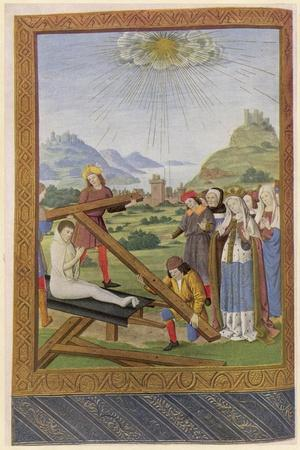 Helena Empress and Saint Discovers the Remains of the Cross on Which Jesus was Crucified--Stretched Canvas Print