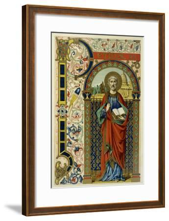 Saint Peter the First Pope Depicted Holding the Key of the Kingdom the Vatican--Framed Giclee Print