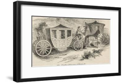 Horse-Drawn Coaches from the Time of Charles II--Framed Giclee Print