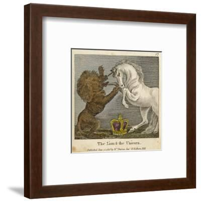 The Lion and the Unicorn were Fighting for the Crown--Framed Premium Giclee Print
