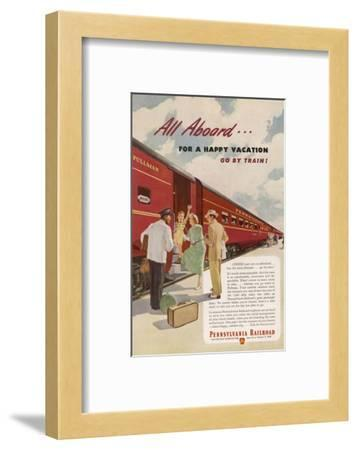 Promoting the Pennsylvania Railroad--Framed Giclee Print