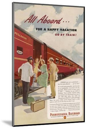 Promoting the Pennsylvania Railroad--Mounted Giclee Print
