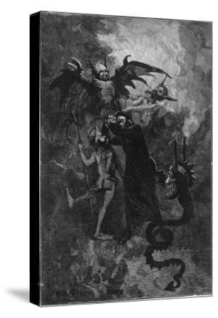 Pere Surin, Sent to Exorcise the Demons Plaguing the Nuns of Saint-Ursule--Stretched Canvas Print