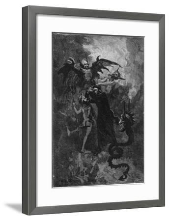 Pere Surin, Sent to Exorcise the Demons Plaguing the Nuns of Saint-Ursule--Framed Giclee Print
