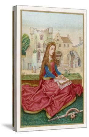 St. Catherine of Alexandria Virgin Martyr and Saint--Stretched Canvas Print