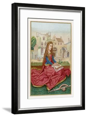 St. Catherine of Alexandria Virgin Martyr and Saint--Framed Giclee Print