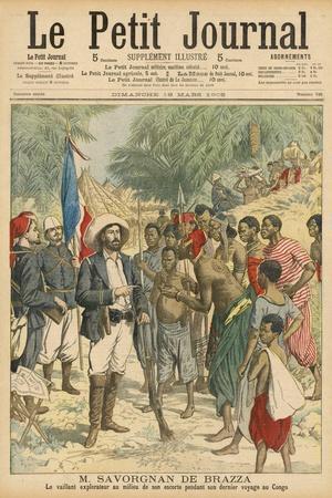 Pierre Savorgnan de Brazza French Explorer in the Congo 1875-1885--Stretched Canvas Print
