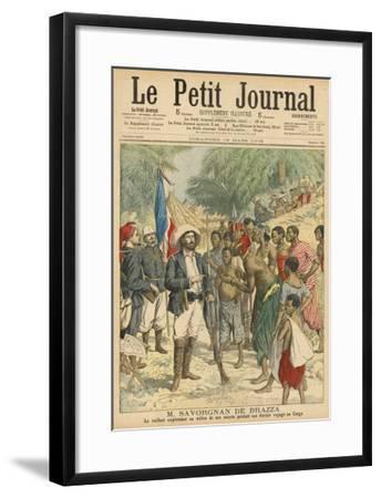 Pierre Savorgnan de Brazza French Explorer in the Congo 1875-1885--Framed Giclee Print