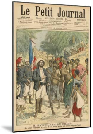 Pierre Savorgnan de Brazza French Explorer in the Congo 1875-1885--Mounted Giclee Print