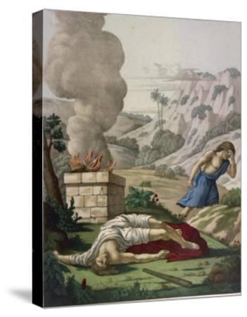 When God Prefers Abels Sacrifice to His Cain Gets Jealous of His Brother and Kills Him--Stretched Canvas Print