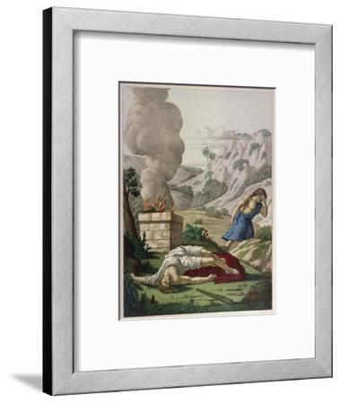 When God Prefers Abels Sacrifice to His Cain Gets Jealous of His Brother and Kills Him--Framed Giclee Print