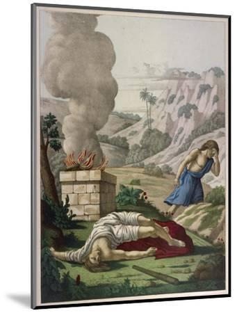 When God Prefers Abels Sacrifice to His Cain Gets Jealous of His Brother and Kills Him--Mounted Giclee Print