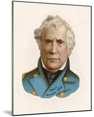 """Zachary Taylor Known as """"Old Rough-And-Ready"""" American Soldier 12th Us President--Mounted Giclee Print"""