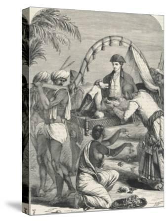 Cheyte Singh Rajah of Benares Flatters Warren Hastings--Stretched Canvas Print