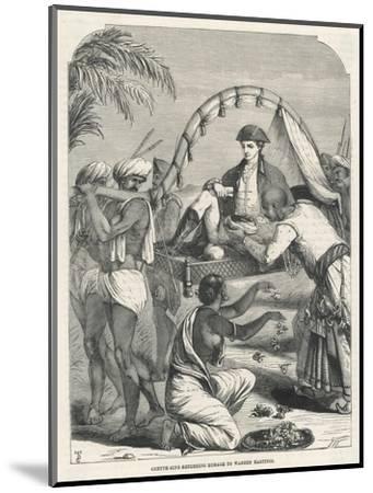 Cheyte Singh Rajah of Benares Flatters Warren Hastings--Mounted Giclee Print