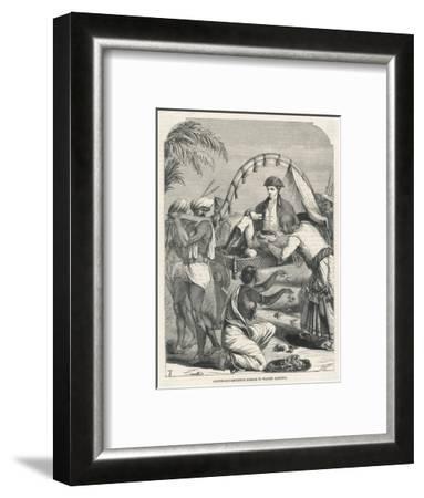 Cheyte Singh Rajah of Benares Flatters Warren Hastings--Framed Giclee Print