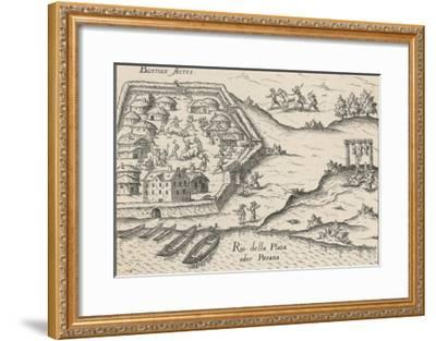 Spanish Conquistadores Overrun Buenos Aires--Framed Giclee Print