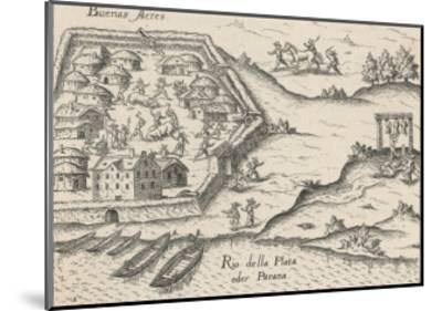 Spanish Conquistadores Overrun Buenos Aires--Mounted Giclee Print
