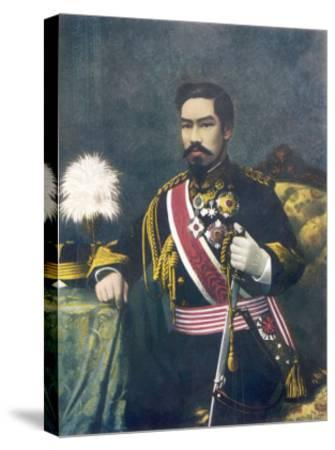 Mutsuhito Also Known as Meiji Emperor of Japan--Stretched Canvas Print