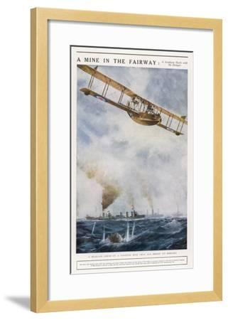Seaplane Fires at a Breakaway Mine to Eliminate Its Threat to Nearby Ships--Framed Giclee Print