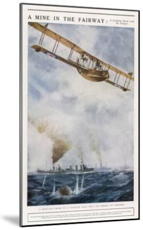 Seaplane Fires at a Breakaway Mine to Eliminate Its Threat to Nearby Ships--Mounted Giclee Print