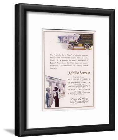 Achille Serre, Cleaners and Dyers--Framed Giclee Print